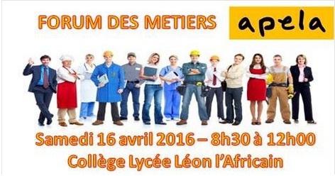 Forum des Métiers - 2des - 1res